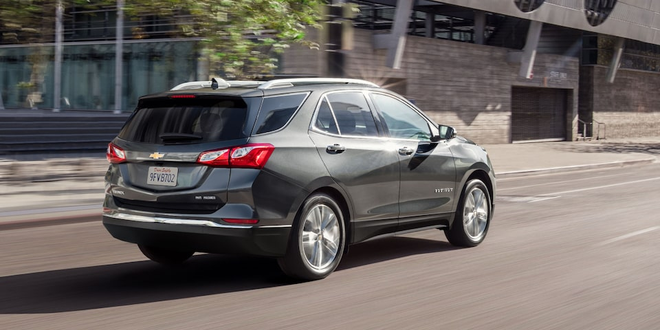 2021 Equinox SUV Rear Passenger Side Driving Shot