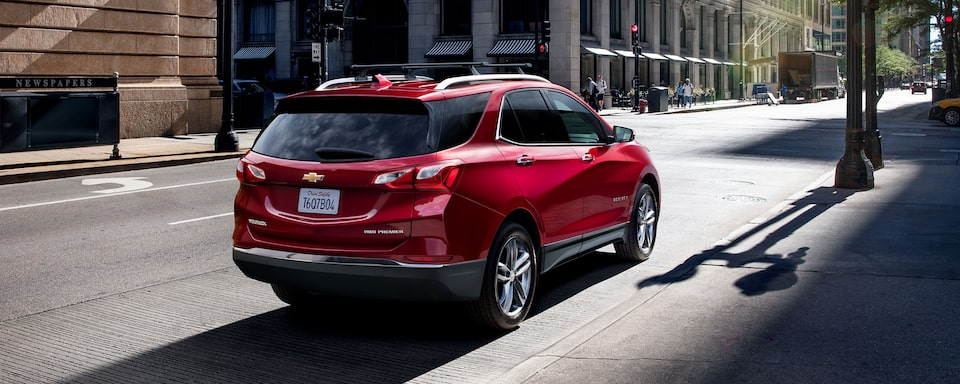 2021 Equinox SUV Rear Shot on Street