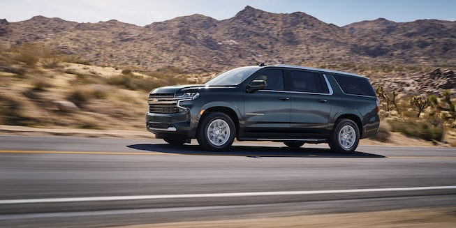 2021 Suburban Exterior Side Profile Driving