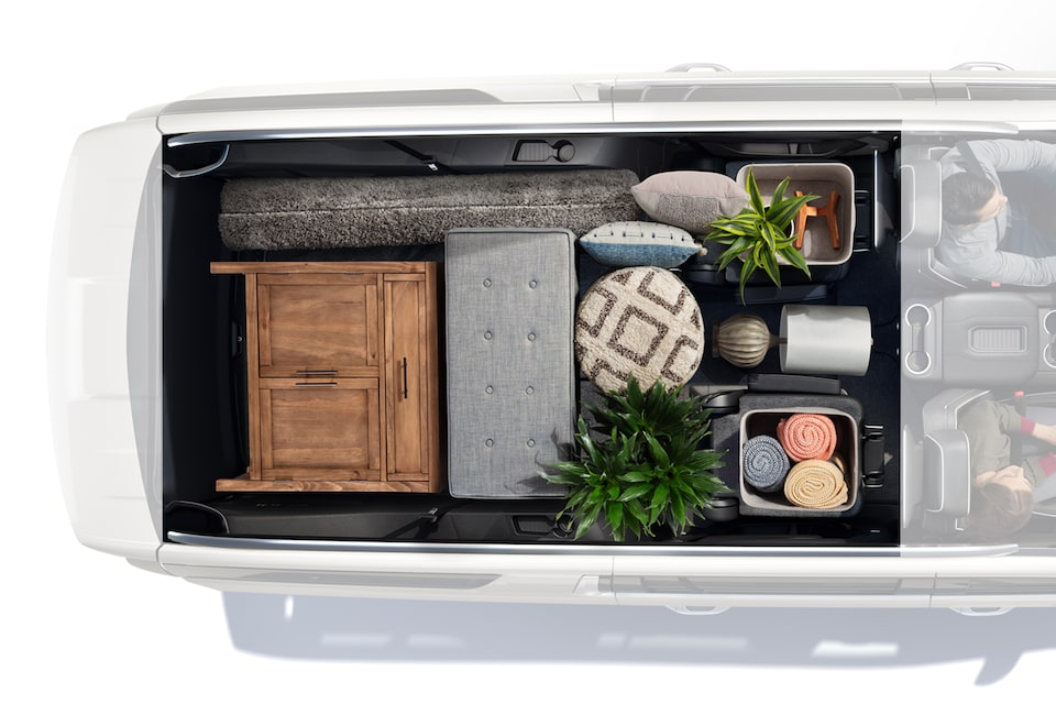 2021 Suburban interior storage - birds eye