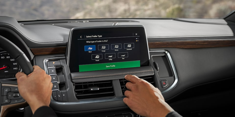 2021 Suburban technology - infotainment screen