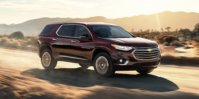 2021 Chevy Traverse Exterior Photo: Side Angle Driving