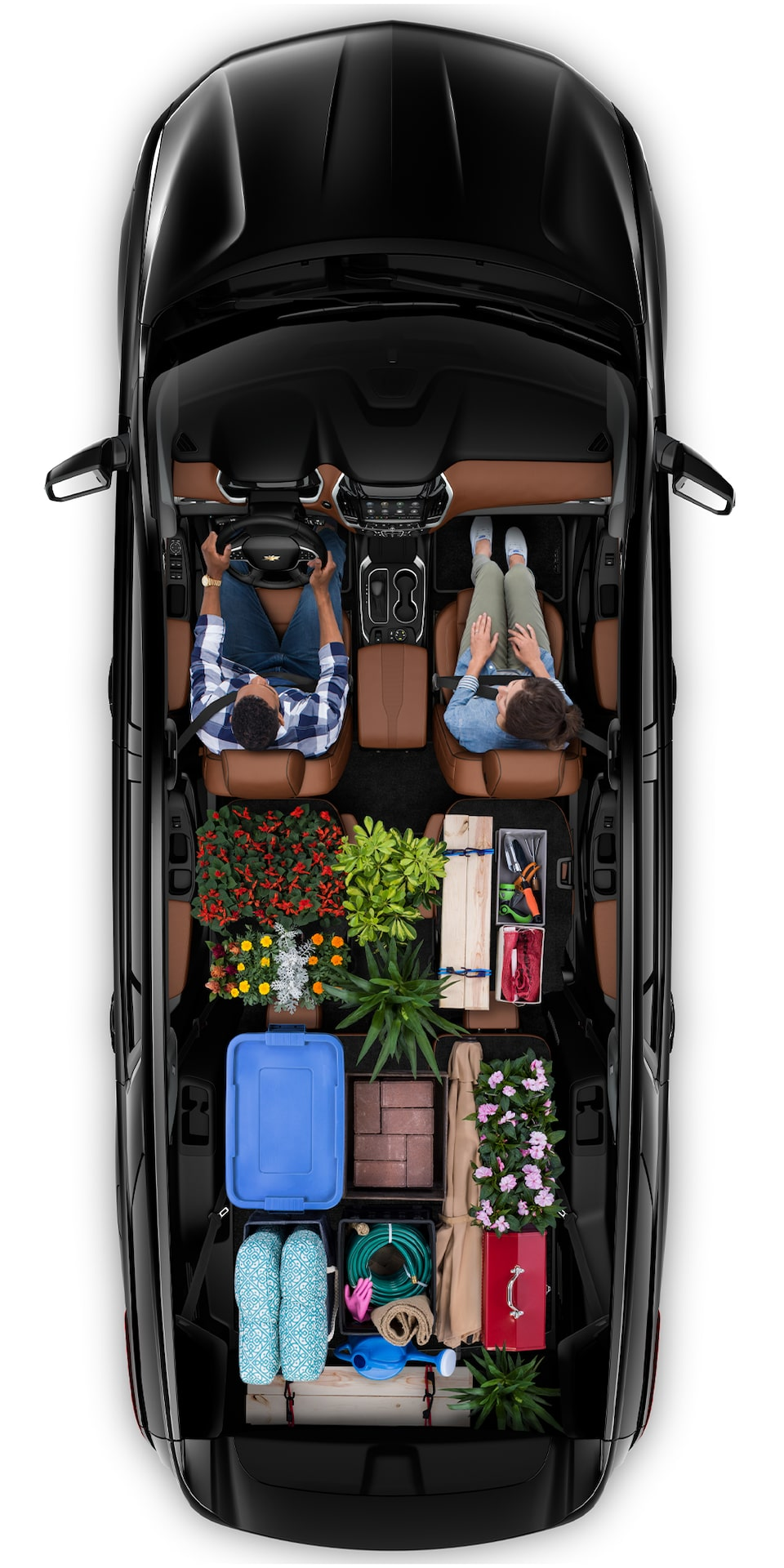 2021 Chevy Traverse Cargo Aerial View