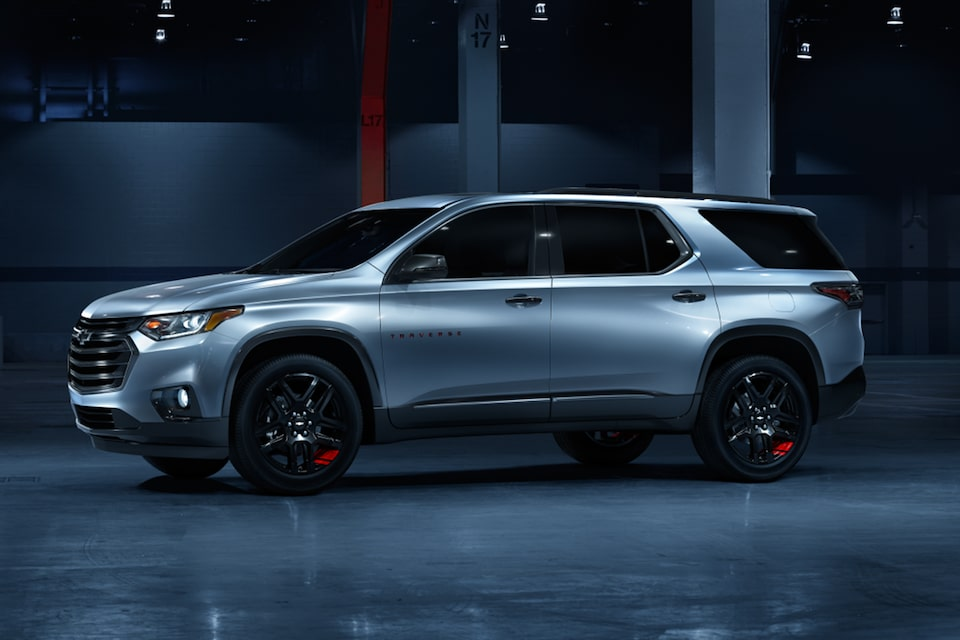 2021 Chevy Traverse Redline Edition: Side Profile