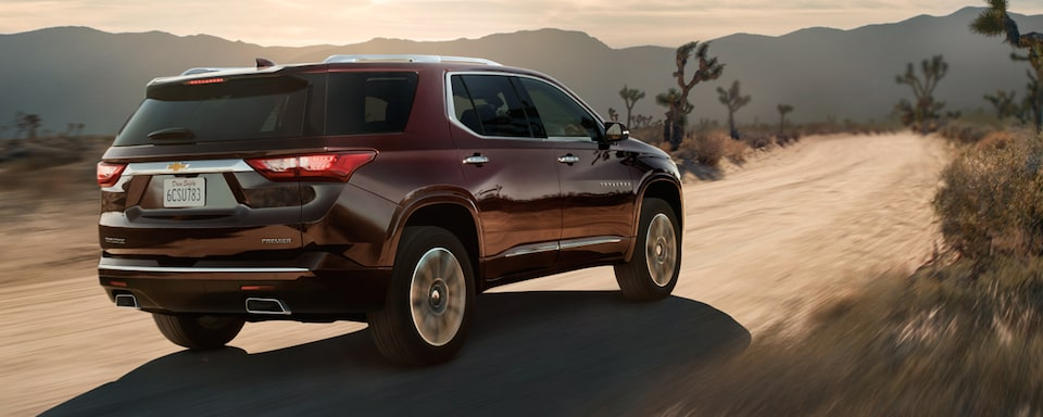 2021 Chevy Traverse: Rear Angle Driving