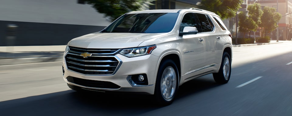 2021 Chevy Traverse Front Angle Driving