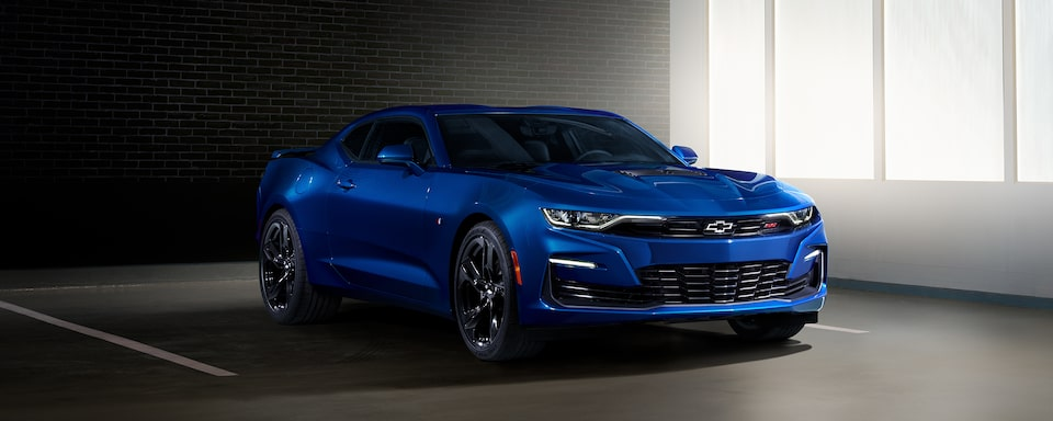 2021 Chevy Camaro Design: Side Angle in Blue