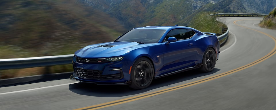 2021 Chevy Camaro driving on road
