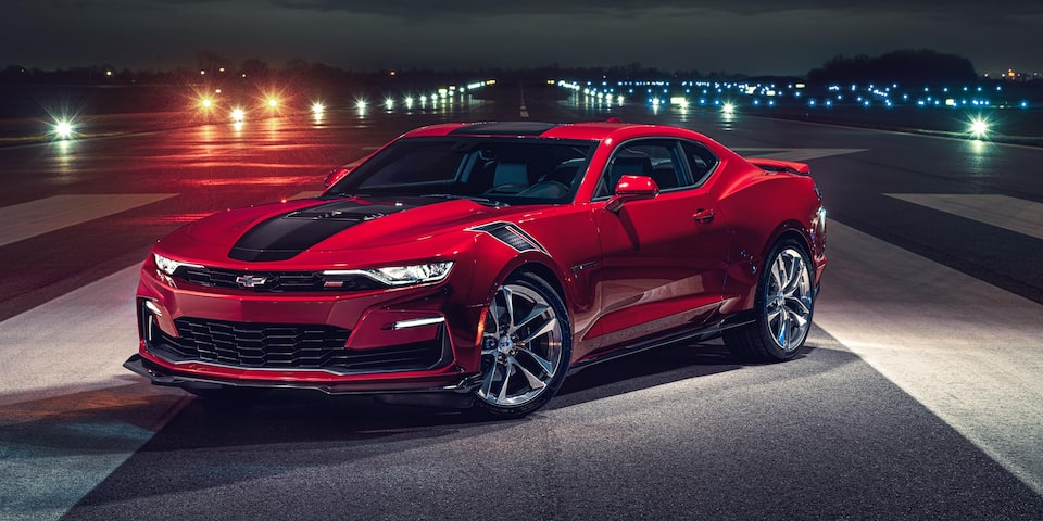 2021 Chevy Camaro Design: Wild Cherry Package Front Angle