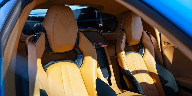 2021 Chevrolet Corvette Sports Car: seats