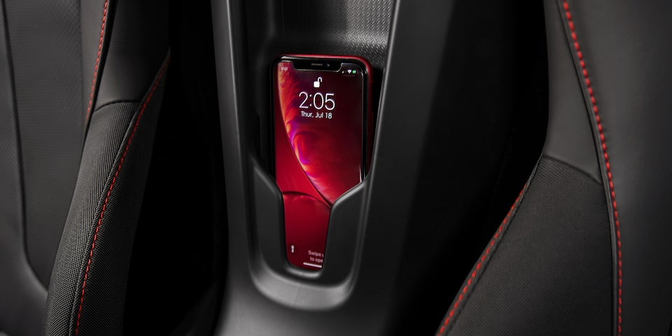 2021 Chevrolet Corvette Mid-Engine Sports Car wireless charging