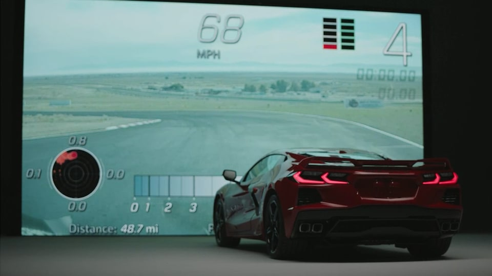 2021 Chevrolet Corvette Mid-Engine Sports Car Simulator video