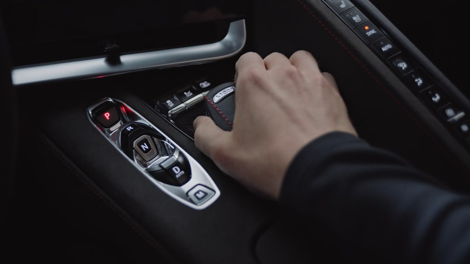 2021 Chevrolet Corvette Mid-Engine Sports Car Gear Shift