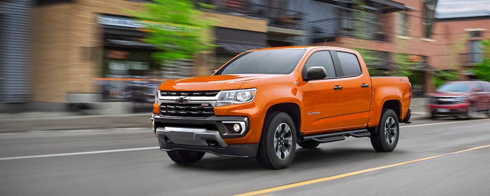 2021 Chevrolet Colorado Mid-Size Truck Side View