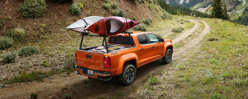 2021 Chevrolet Colorado Hauling Kayaks