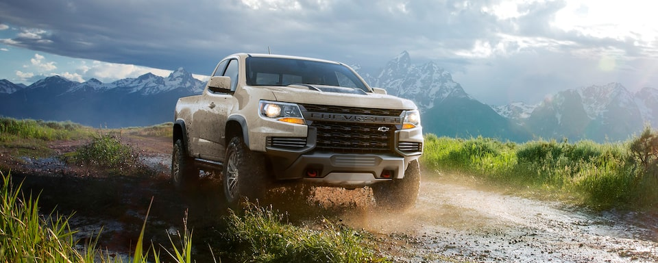 2021 Chevrolet Colorado ZR2 Truck Driving Off-Road