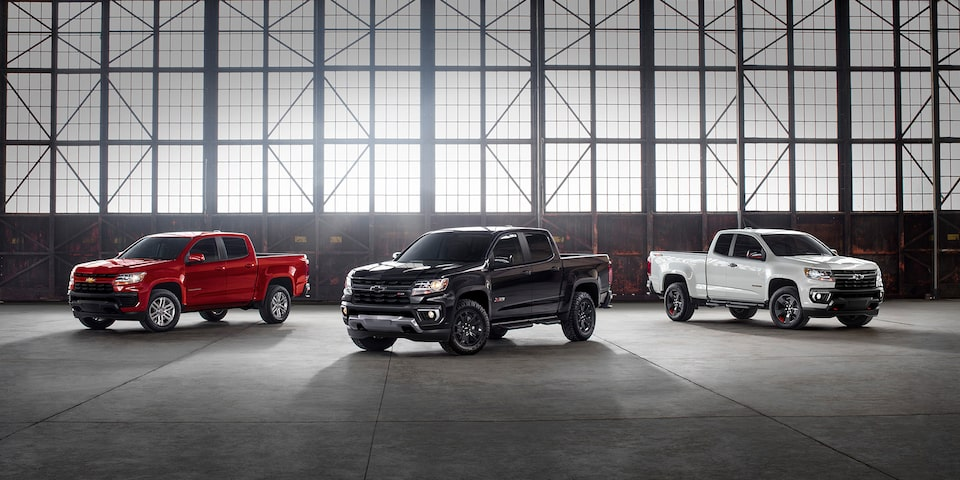 2021 Chevrolet Colorado Special Editions Lineup Wide View