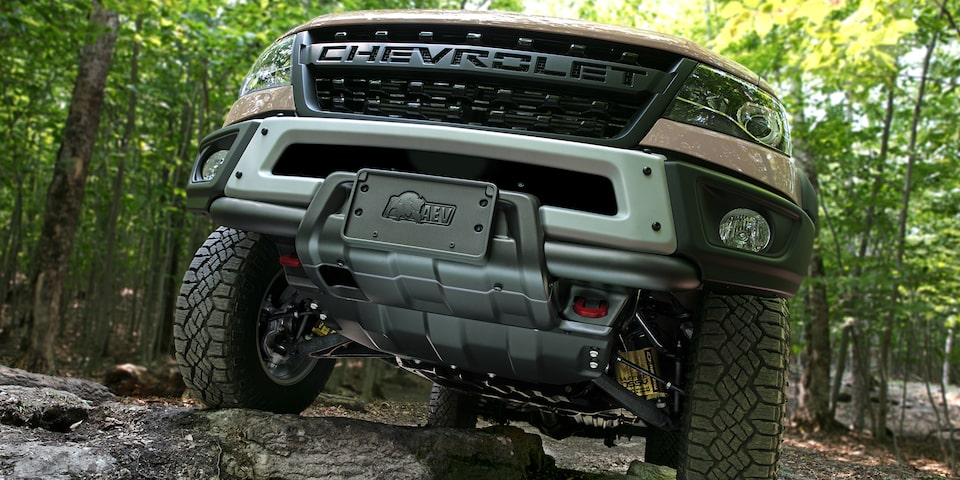 2021 Chevrolet Colorado ZR2 Bison Front Plate Closeup