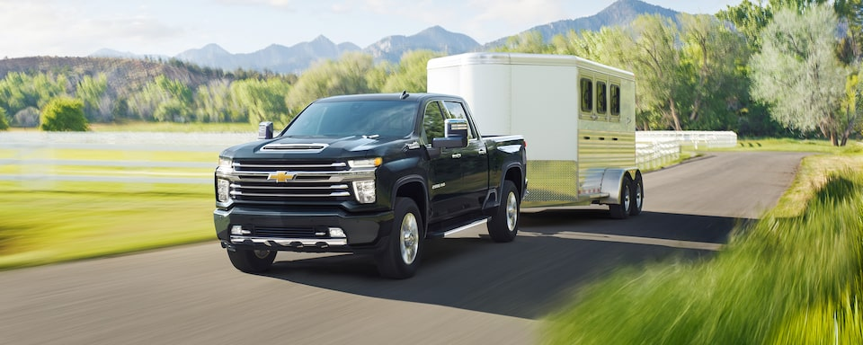 2021 Chevy Silverado HD Truck: trailer being towed