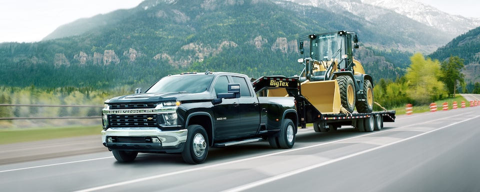 2021 Chevy Silverado HD Truck: tractor being towed