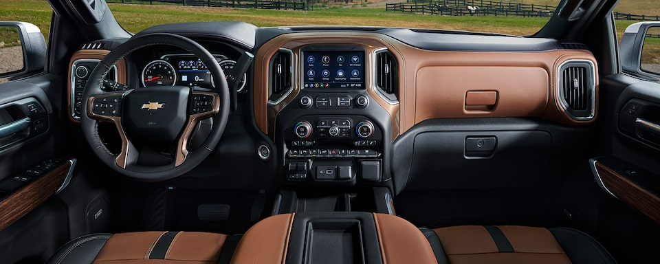 2021 Silverado 1500 Pickup Truck Interior Dashboard View