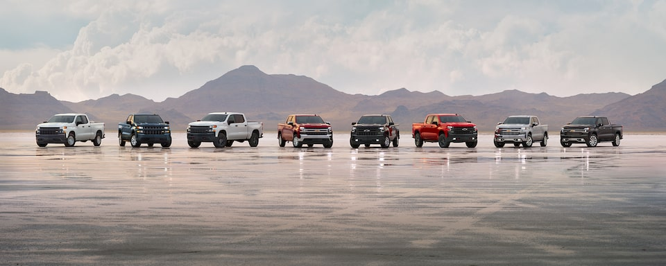 2021 Silverado 8 Trim Levels Pack Shot