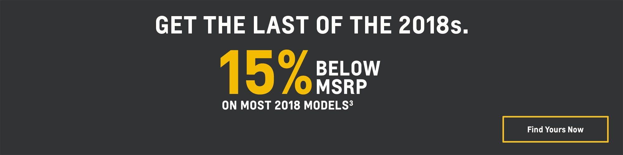 2018 Chevrolet Camaro: 15% Below MSRP