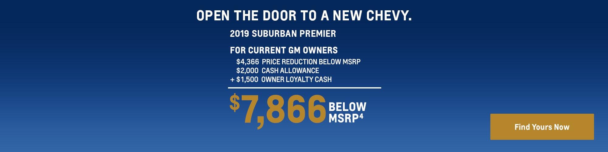2019 Suburban: $7,866 Below MSRP