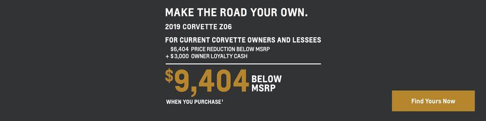 2019 Corvette: $9,404 Below MSRP