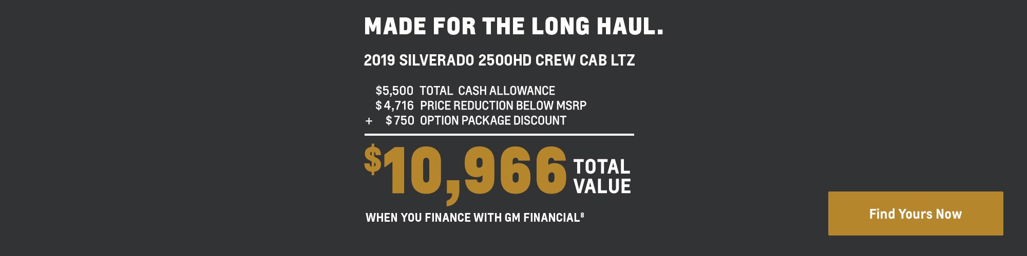 2019 Silverado 2500HD: $10,966 Total Value