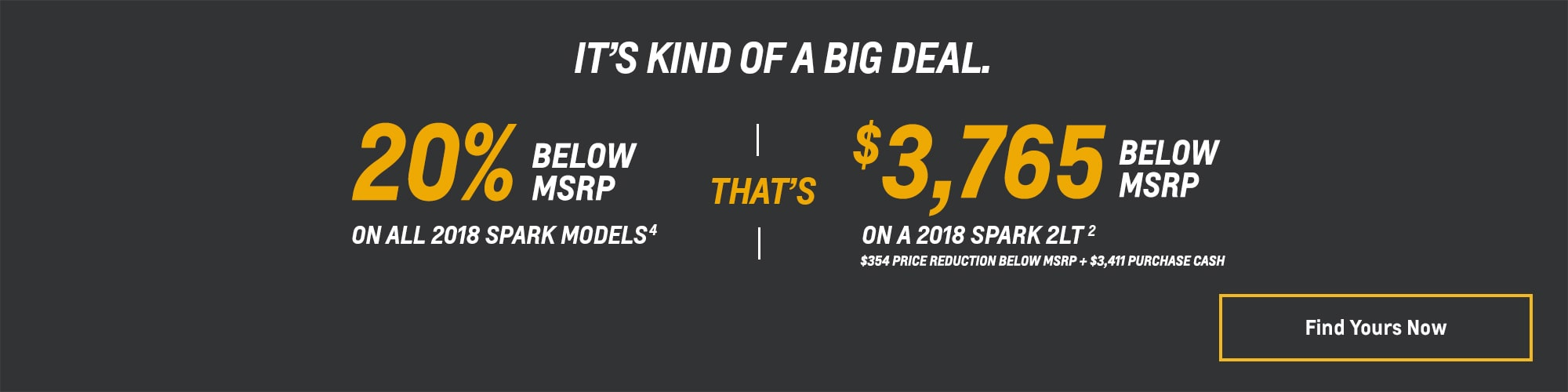 Chevy Deals and Offers: 2018 Spark - 20% Below MSRP