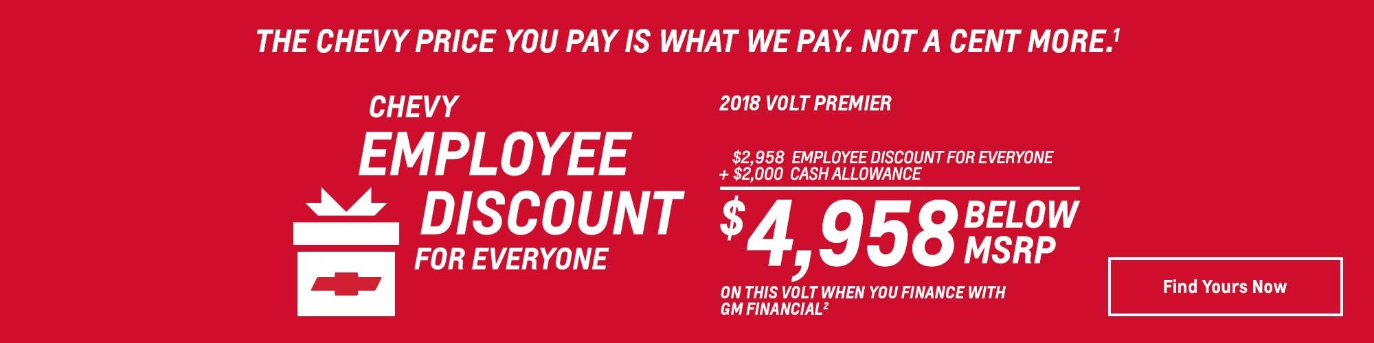 Chevy Employee Discount Logo