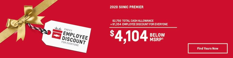 2020 Sonic: $4,104 Below MSRP