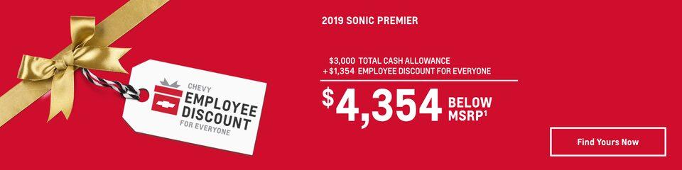 2019 Sonic: $4,354 Below MSRP
