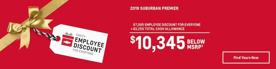 2019 Suburban: $10,345 Below MSRP