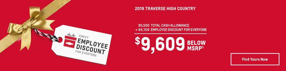 2019 Traverse: $9,609 Below MSRP