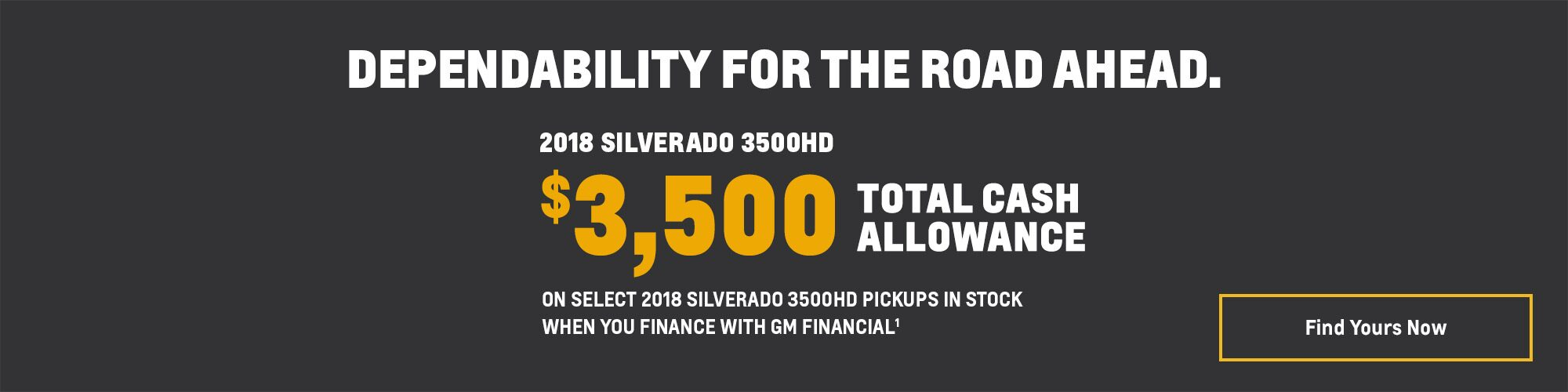 2018 Silverado 3500HD Pickup Truck Deals and Offers