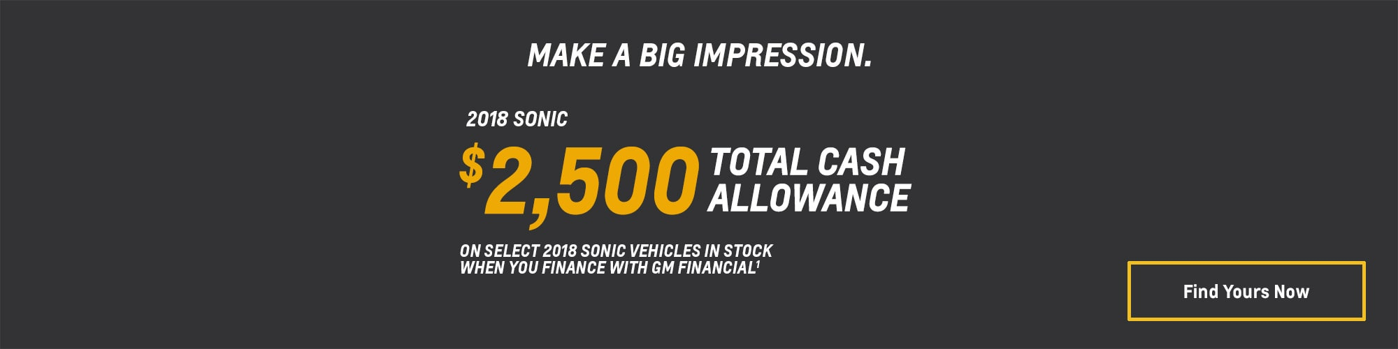 2018 Sonic Small Car Deals and Offers