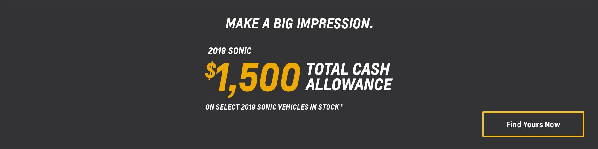 2019 Sonic Small Car Deals and Offers