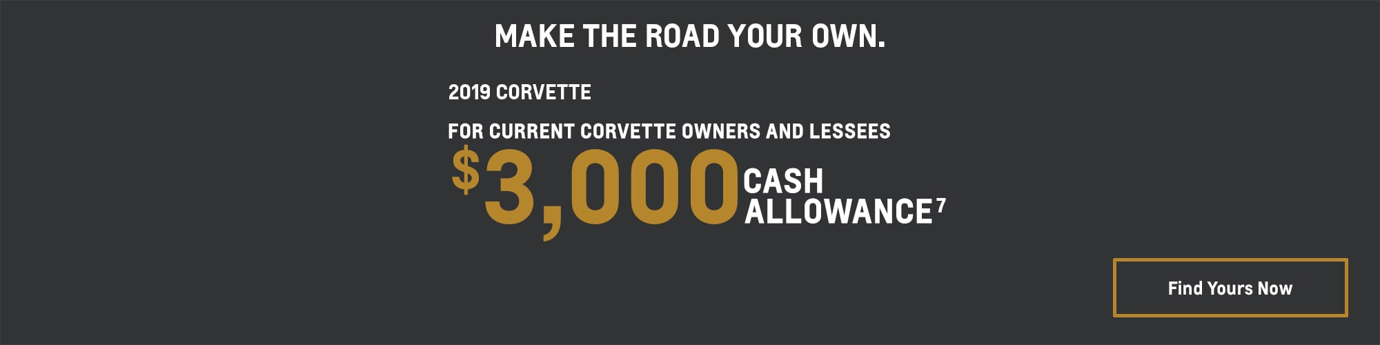 2019 Corvette: $3,000 Cash Allowance