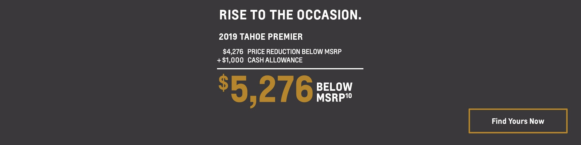 2019 Tahoe: $5,276 Below MSPR