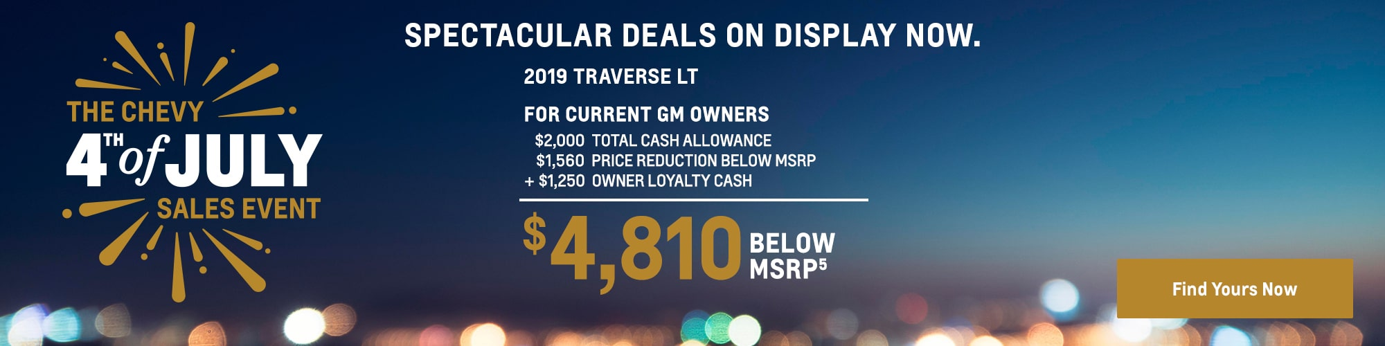 2019 Traverse: $4,810 Below MSRP