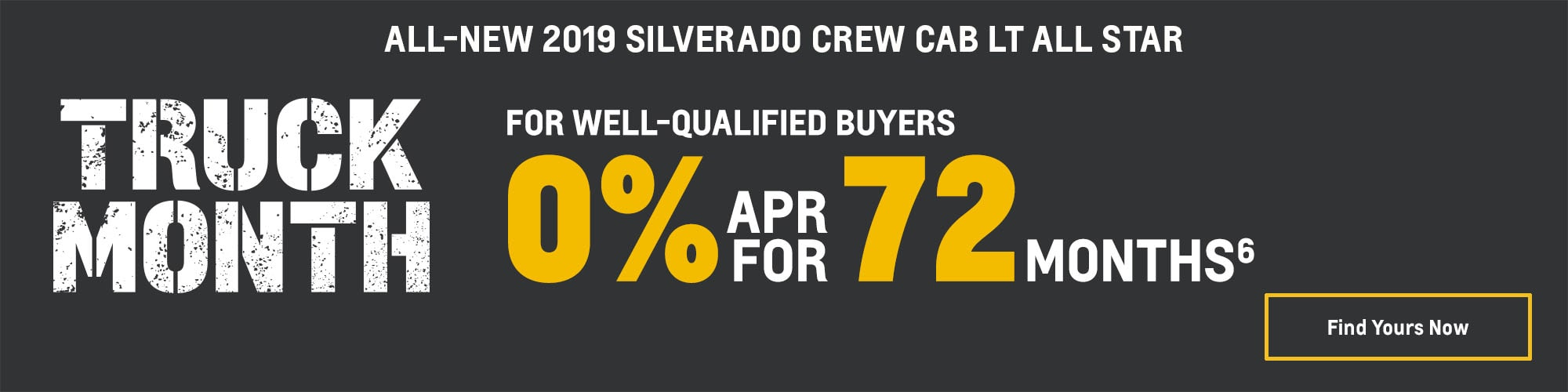 2019 Chevrolet Silverado 1500: 0% APR for 72 Months