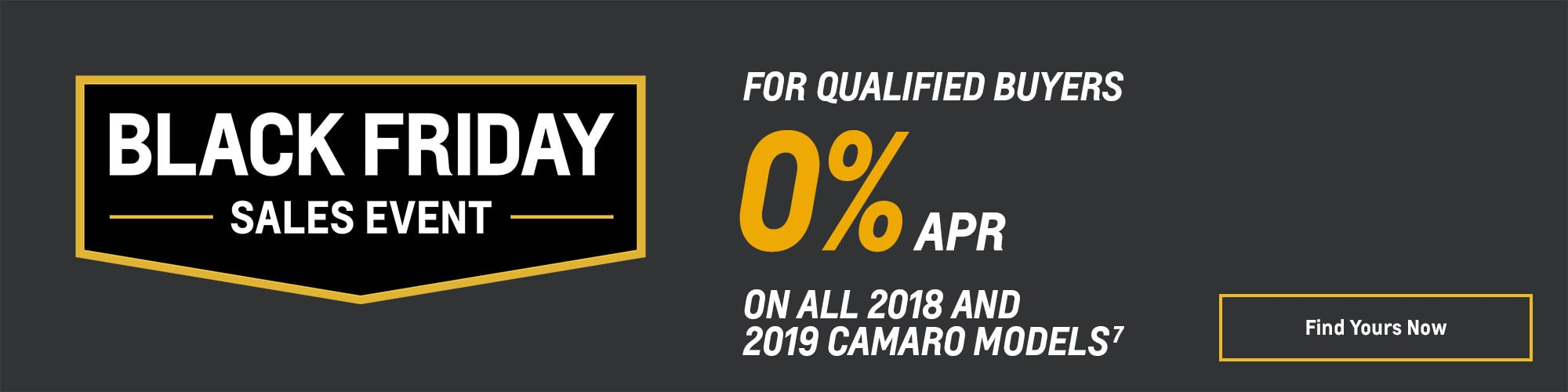 Black Friday Chevy Deals and Offers: Camaro 0% APR