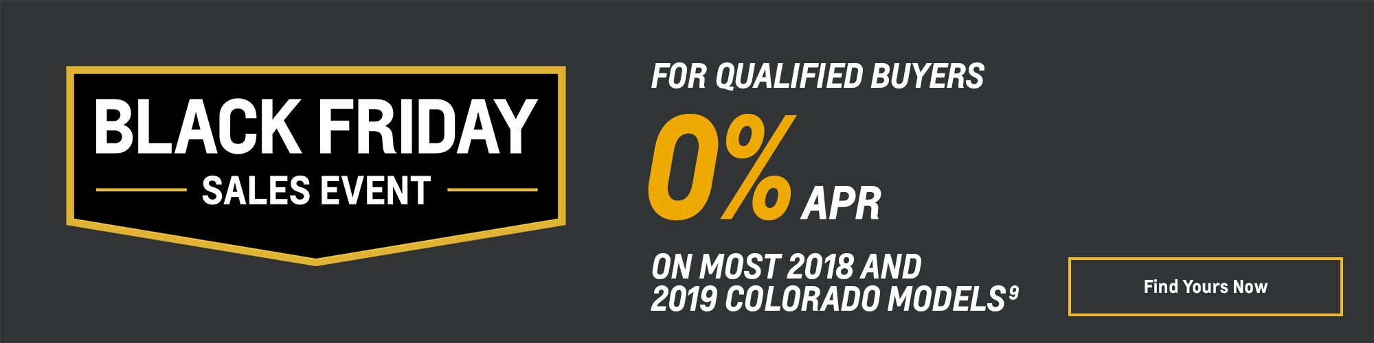 Black Friday Chevy Deals and Offers: Colorado 0% APR