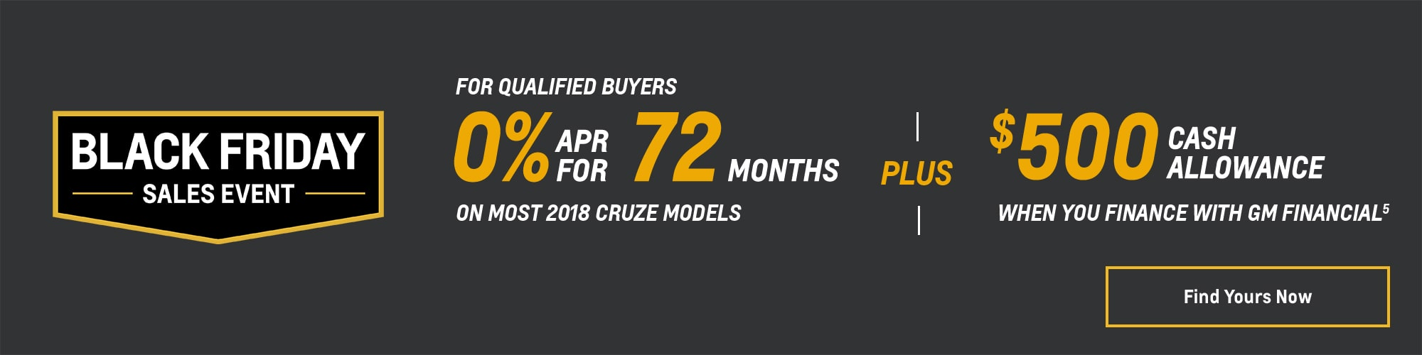Black Friday Chevy Deals and Offers: 2018 Cruze 0% APR