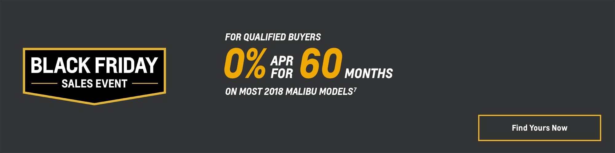 Black Friday Chevy Deals and Offers: 2018 Malibu 0% APR