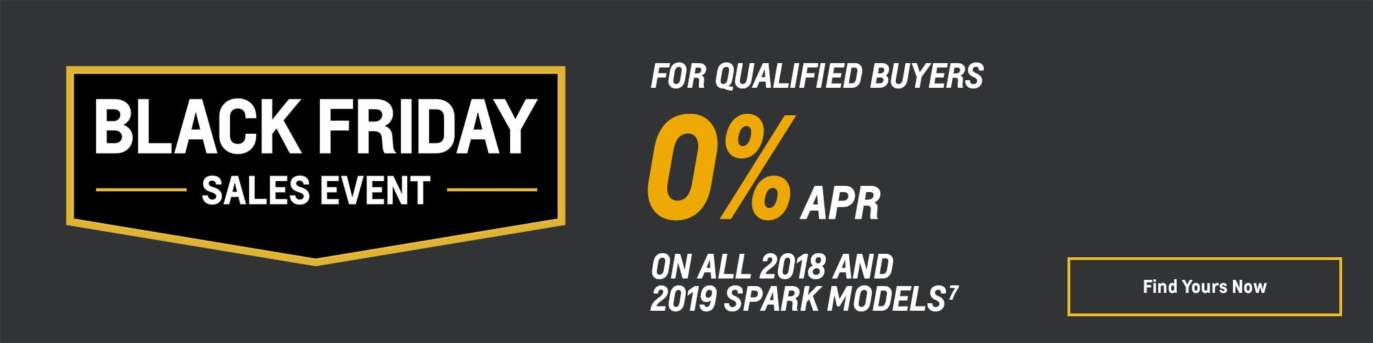 Black Friday Chevy Deals and Offers: Spark 0% APR