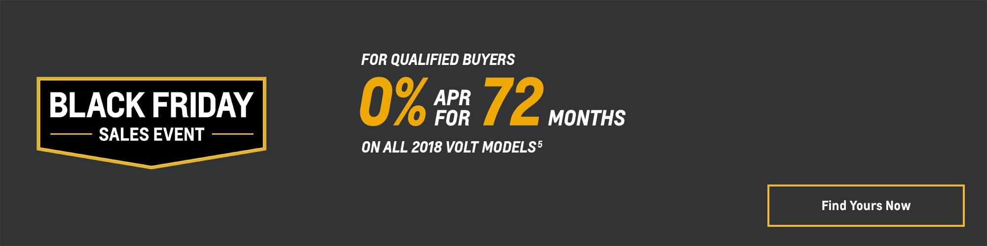 Black Friday Chevy Deals and Offers: 2018 Volt 0% APR