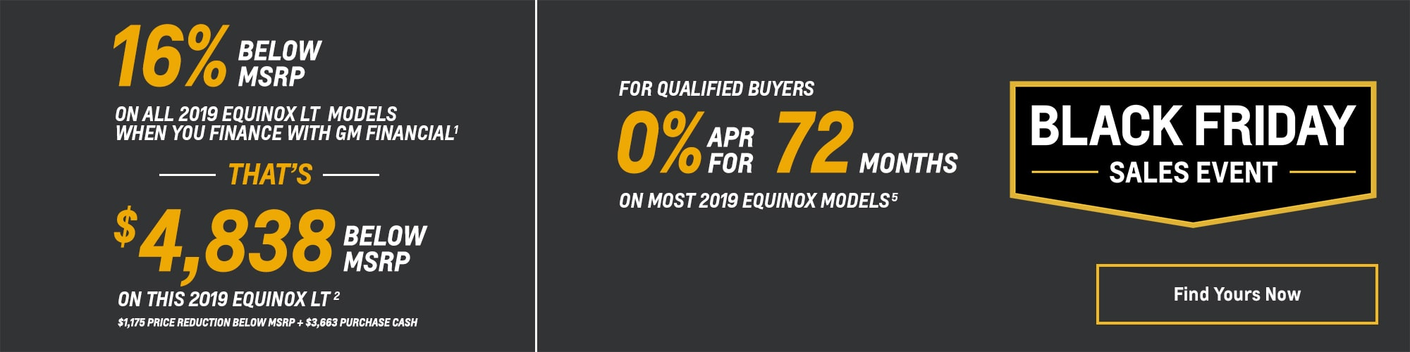 Black Friday Chevy Deals and Offers: 2019 Equinox 16% Below MSRP 0% APR